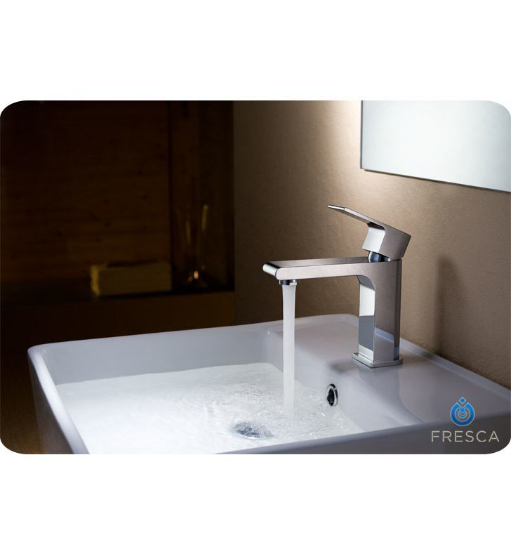 Picture of Fresca Allaro Single Hole Mount Bathroom Vanity Faucet - Chrome