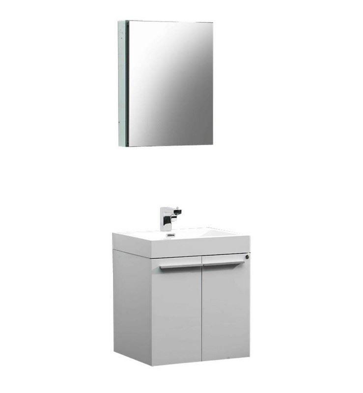 """Picture of Fresca Alto 23"""" White Modern Bathroom Vanity w/ Medicine Cabinet"""