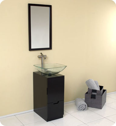 "Picture of Fresca Brilliante 17"" Espresso Modern Bathroom Vanity with Mirror"