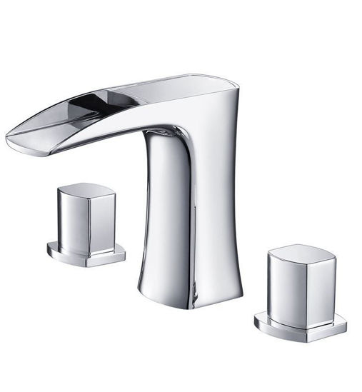 Picture of Fresca Fortore Widespread Mount Bathroom Vanity Faucet - Chrome