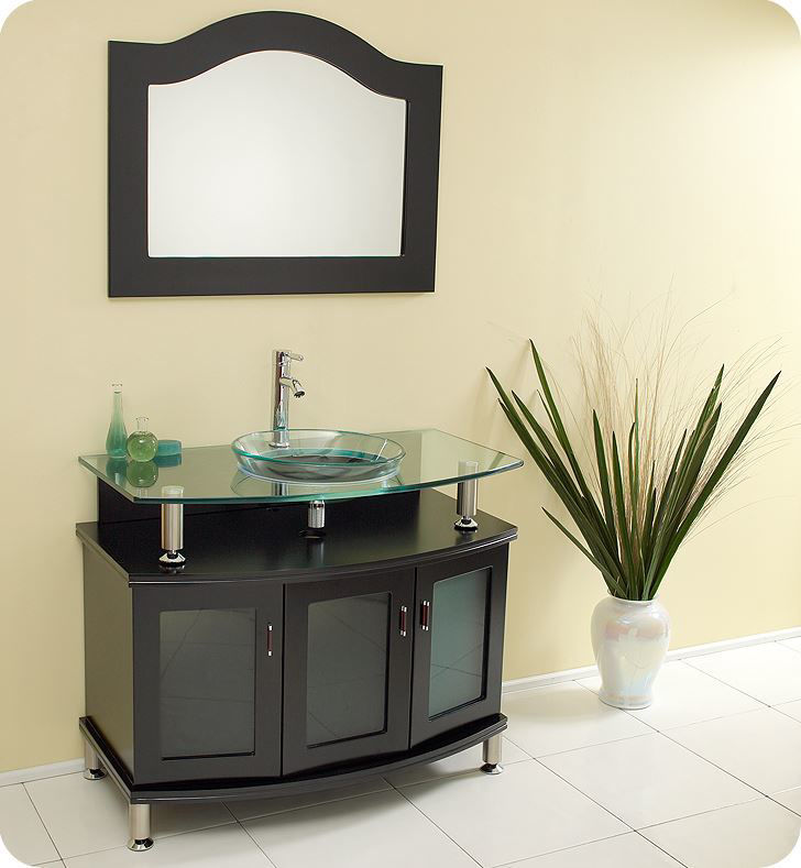 "Picture of Fresca Contento 39"" Espresso Modern Bathroom Vanity w/ Mirror"
