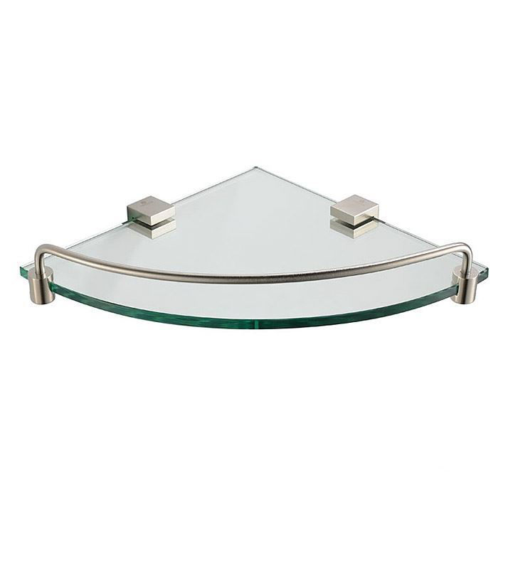 Picture of Fresca Ottimo Corner Glass Shelf - Brushed Nickel