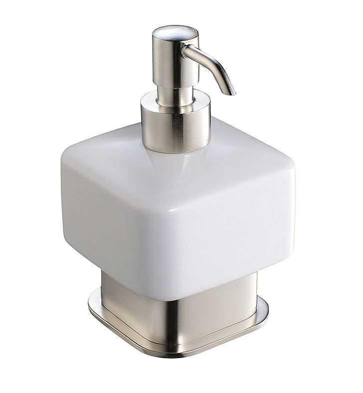 Picture of Fresca Solido Lotion Dispenser (Free Standing) - Brushed Nickel