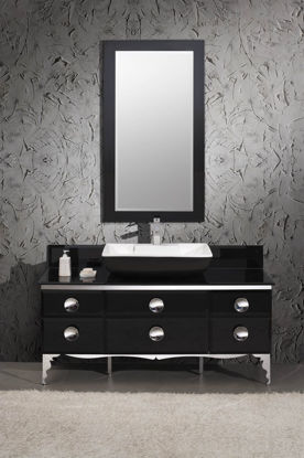 "Picture of Fresca Moselle 59"" Modern Glass Bathroom Vanity with Mirror"