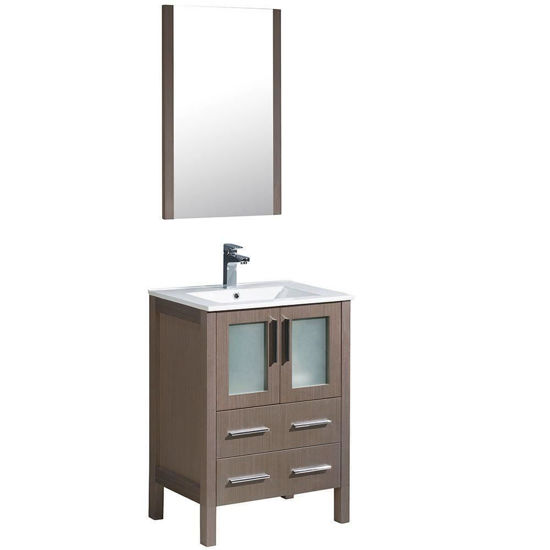 "Picture of Fresca Torino 24"" Gray Oak Modern Bathroom Vanity with Integrated Sink"