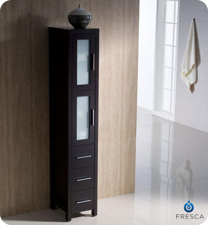 Picture of Fresca Torino Espresso Tall Bathroom Linen Side Cabinet