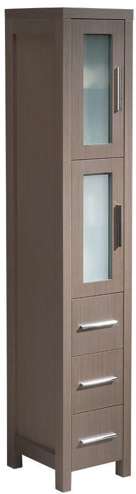 Picture of Fresca Torino Gray Oak Tall Bathroom Linen Side Cabinet