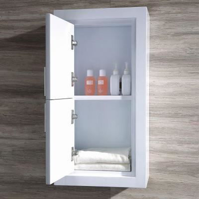 Picture of Fresca White Bathroom Linen Side Cabinet w/ 2 Doors