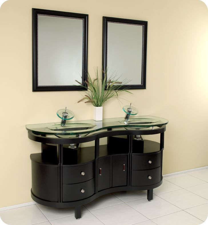 Picture of Fresca Unico Espresso Modern Bathroom Vanity w/ Mirrors