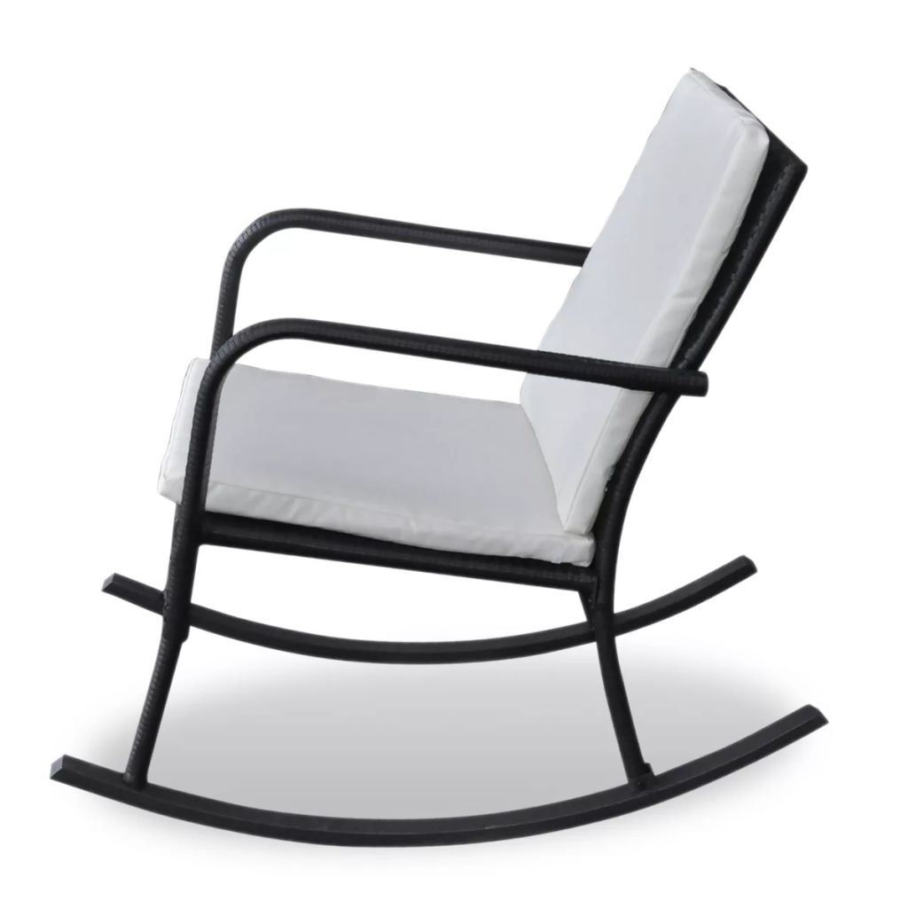 Picture of Garden Rocking Chair Poly Rattan Black