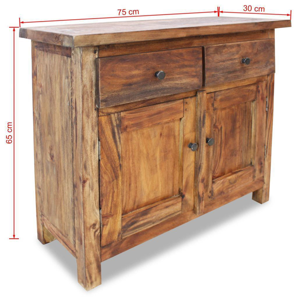 """Picture of Hallway Storage Cabinet Sideboard Solid Reclaimed Wood 29"""""""