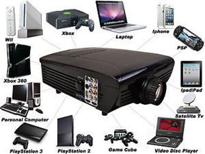 Picture of HD Home Theater Multimedia LCD Projector 1080-HDMI TV DVD PlayStation