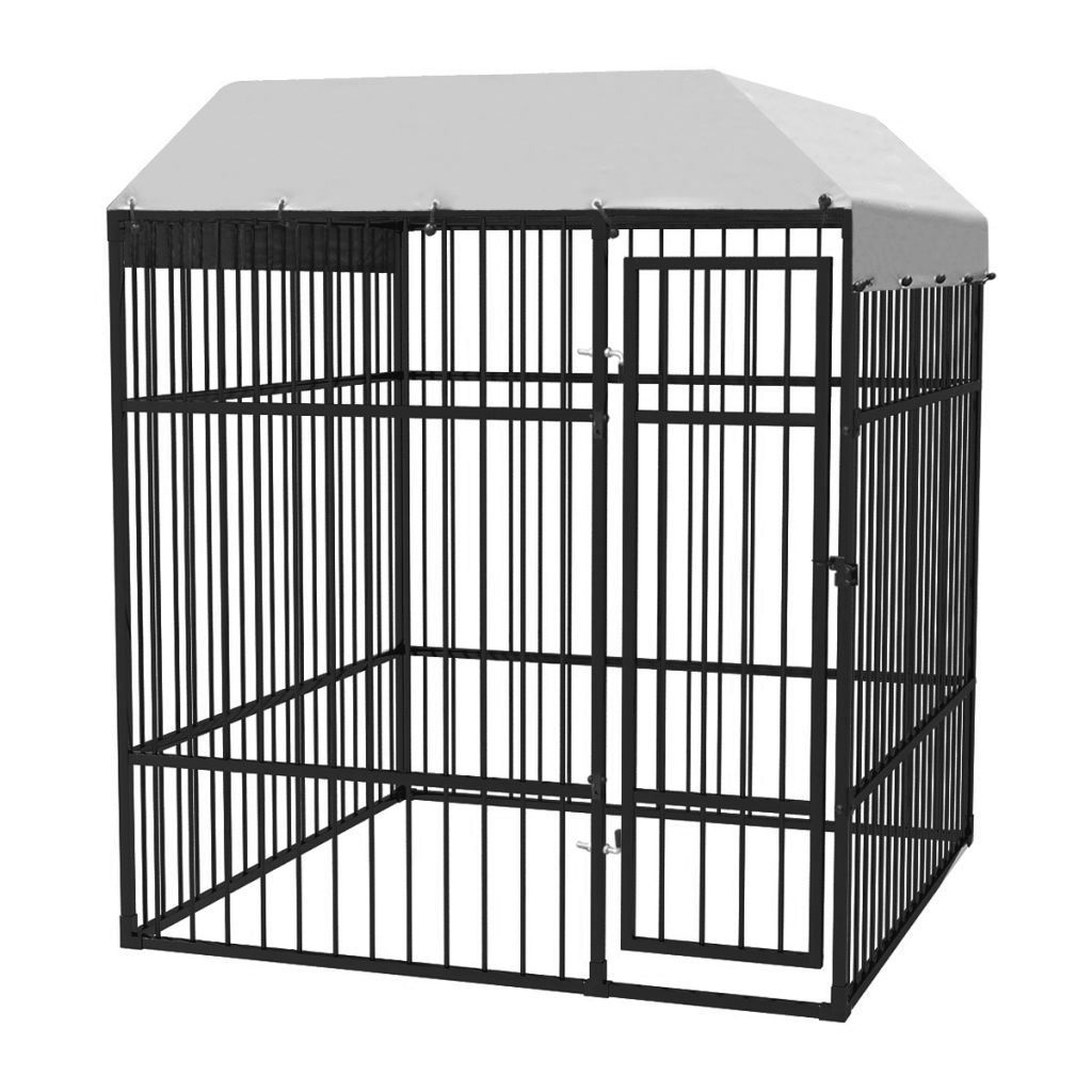 Picture of Heavy-Duty Outdoor Dog Kennel with Roof 6x6