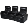 Picture of Home Cinema Recliner Reclining Sofa 3-seat - Black