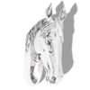 Picture of Horse Head Decoration Wall-Mounted Aluminum Silver