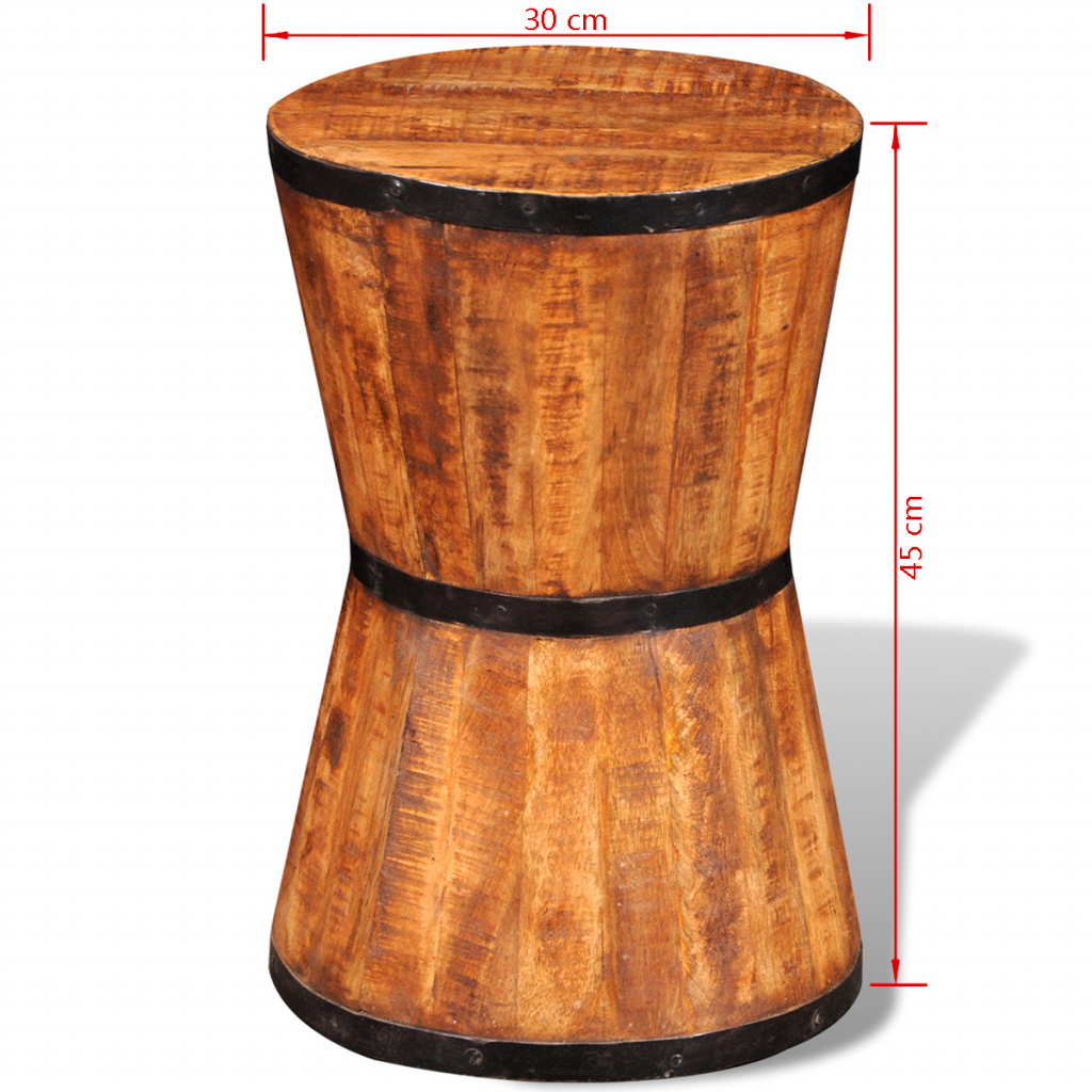 Picture of Hourglass Stool - Rough Mango Wood