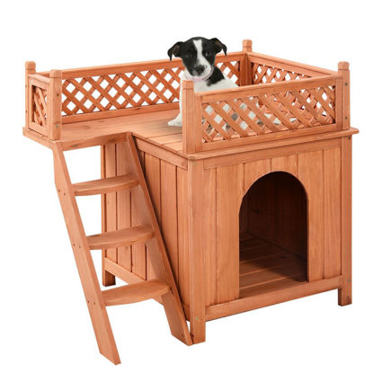 Picture of Indoor and Outdoor Wooden Pet Dog House