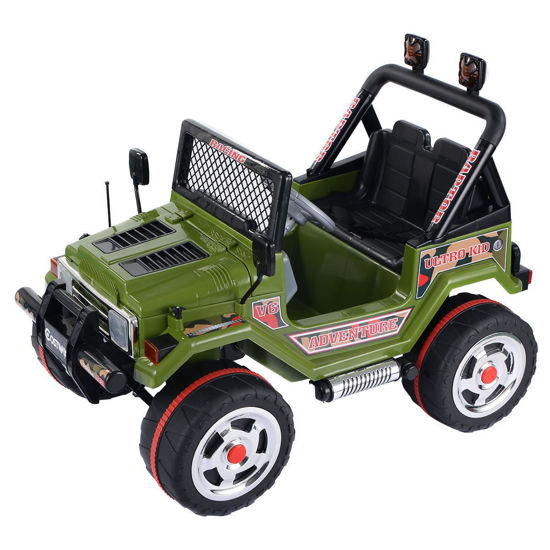 Picture of Kids Baby Ride On Car 12V MP3 Jeep Wrangler Truck RC with Double Motor & Battery