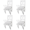 Picture of Kitchen Dining Chairs Pinewood - 4 pcs White