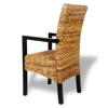Picture of Kitchen Dining Chairs with Armrests - 2 pcs Handwoven Abaca