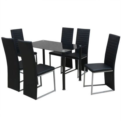 Picture of Kitchen Dining Set - 7pc Black