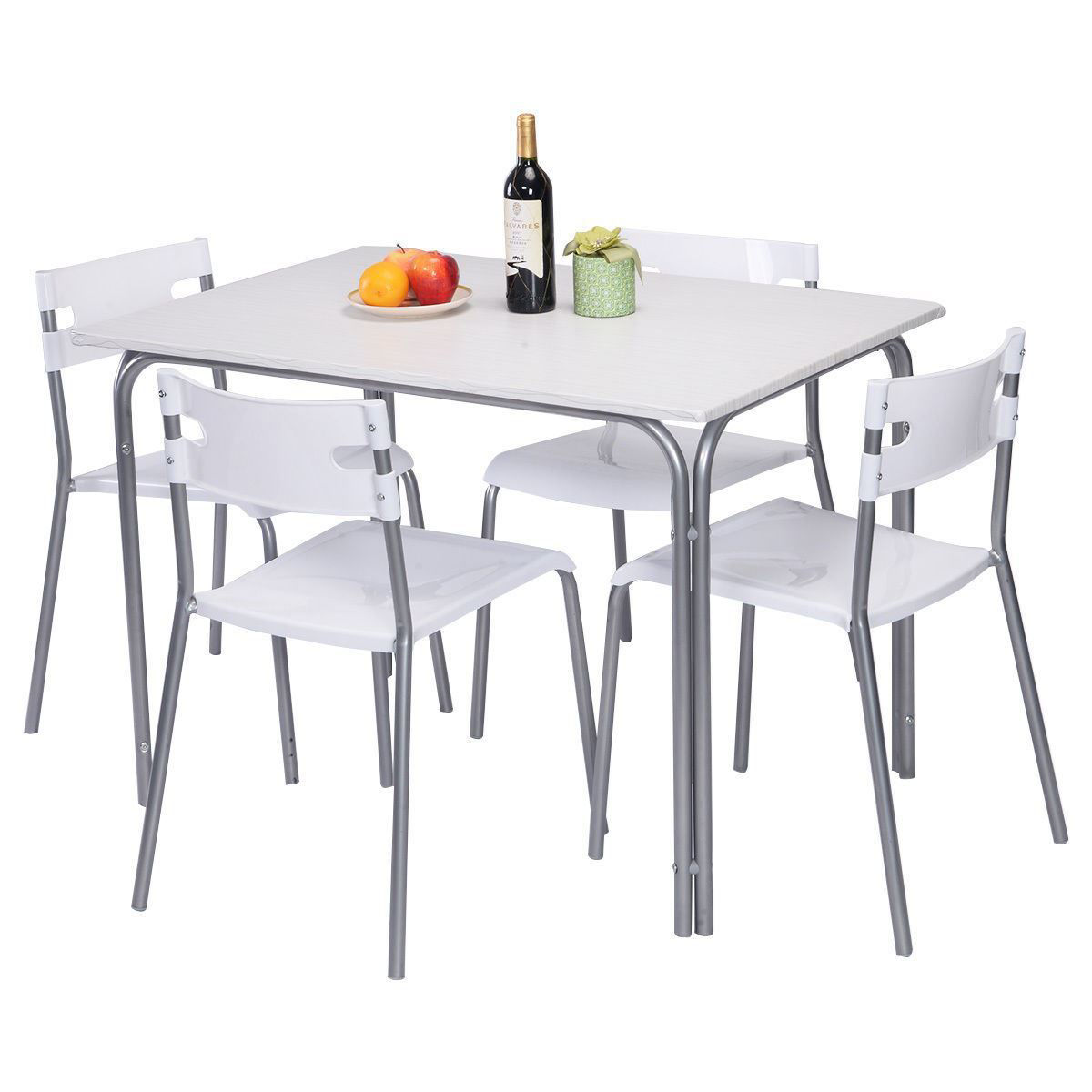 Picture of Kitchen Dining Table and Chairs Home Furniture 5 Pieces