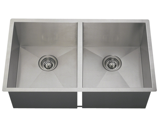 Picture of Kitchen Sink Double Equal Rectangular Stainless Steel