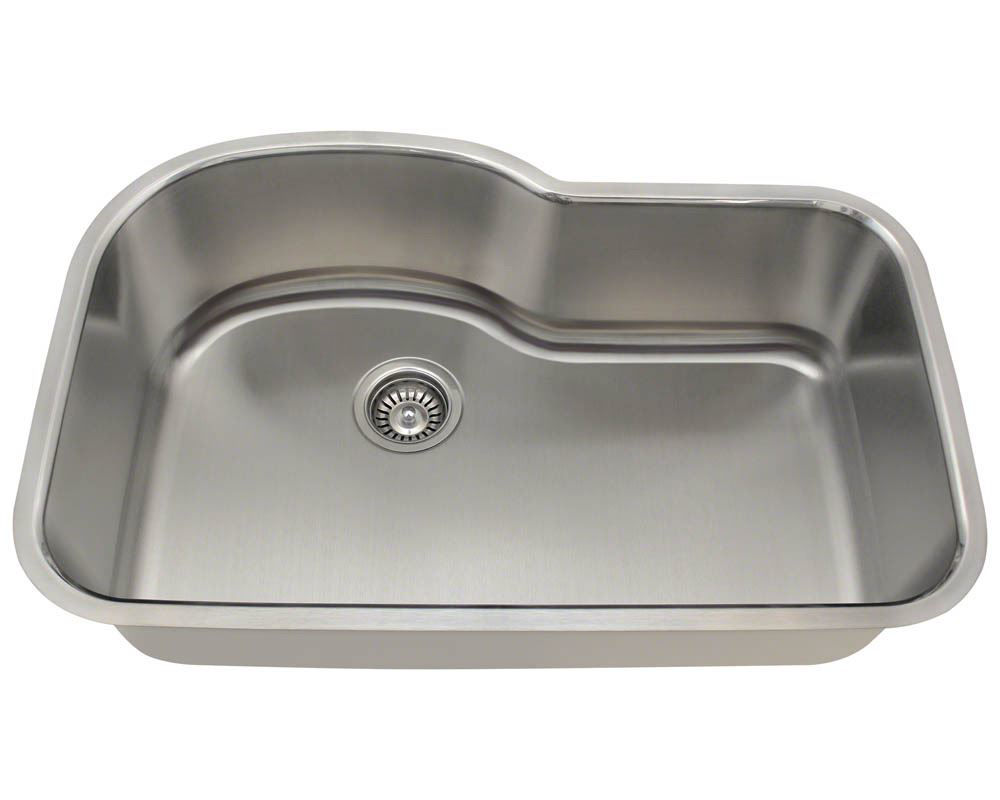 Picture of Kitchen Stainless Steel  Single Bowl Undermount Sink Offset