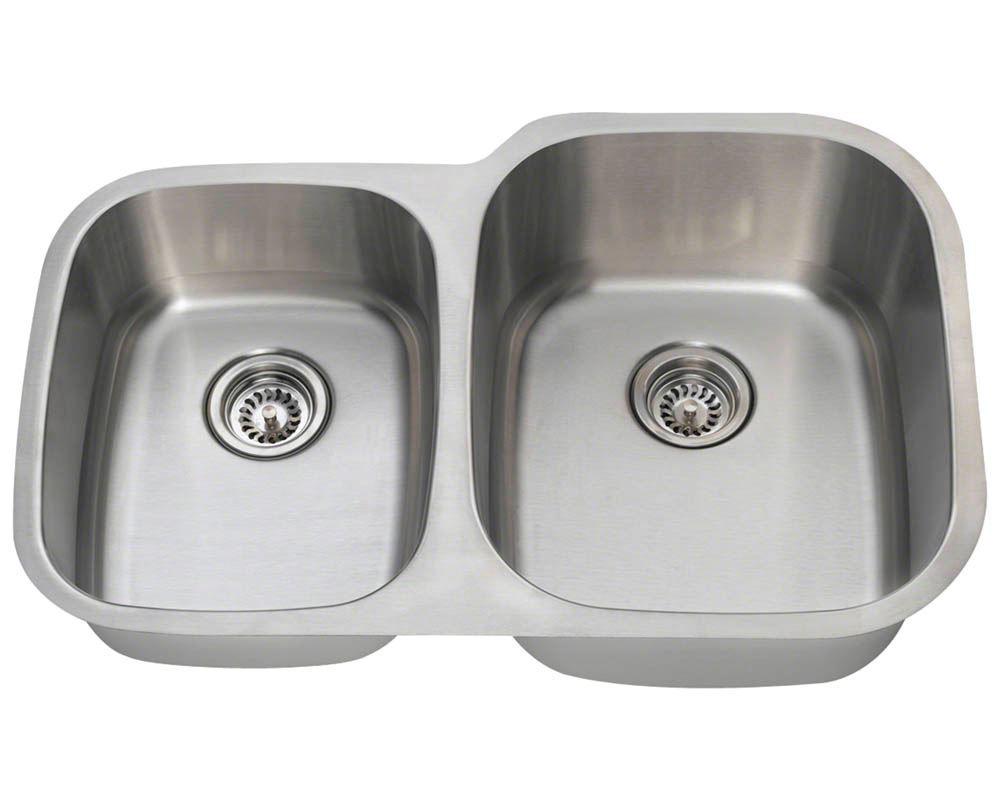 Picture of Kitchen Stainless Steel Undermount Sink Reverse Offset