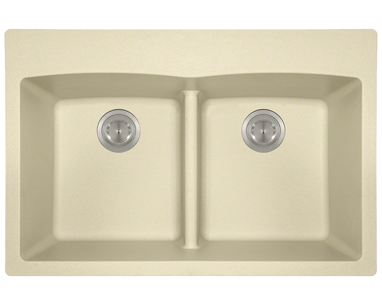 Picture of Kitchen Topmount Sink Double Equal Bowl Low-Divide - AstraGranite