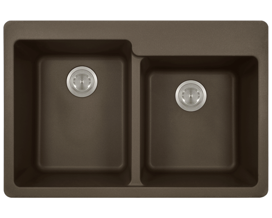 Picture of Kitchen Topmount Sink Double Offset Bowl AstraGranite