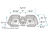 Picture of Kitchen Undermount Triple Bowl Stainless Steel