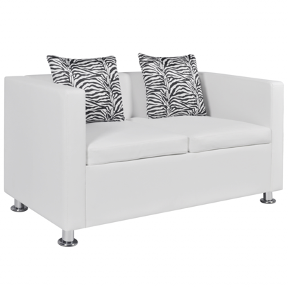 Picture of Living Room 2-Seater Sofa Artificial Leather - White