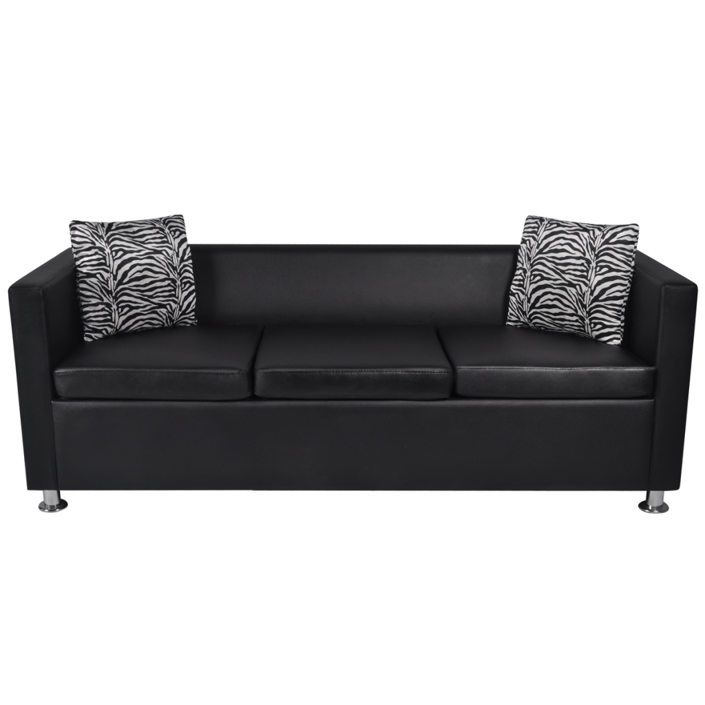 Picture of Living Room 3-Seater Sofa - Black
