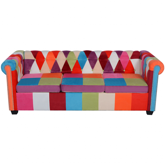 Picture of Living Room 3-Seater Sofa Chesterfield -Fabric