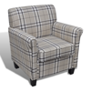 Picture of Living Room Accents Armchair Chair with Cushioned Seat - Cream White