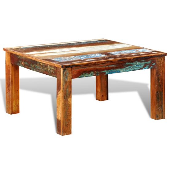Picture of Living Room Antique-Style Coffee Table Square - Reclaimed Wood