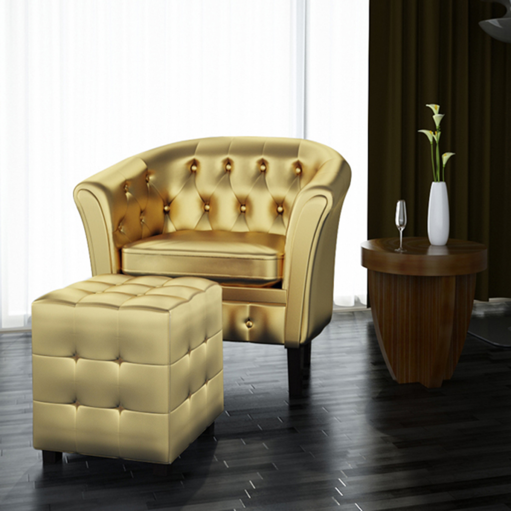 Picture of Living Room Tub Chair with Footrest