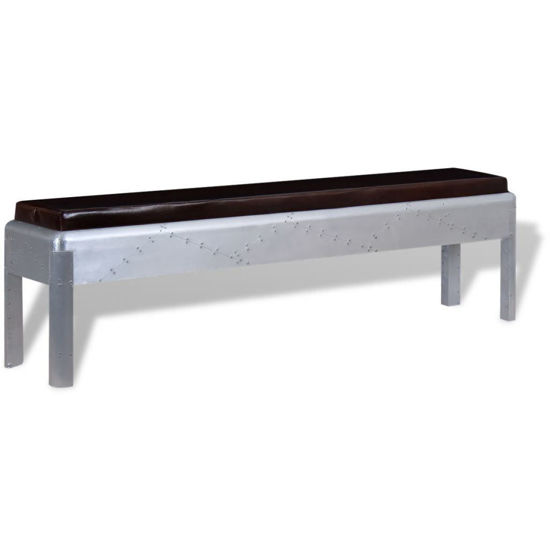 Picture of Living Room Bench Genuine Leather Aviator 63""