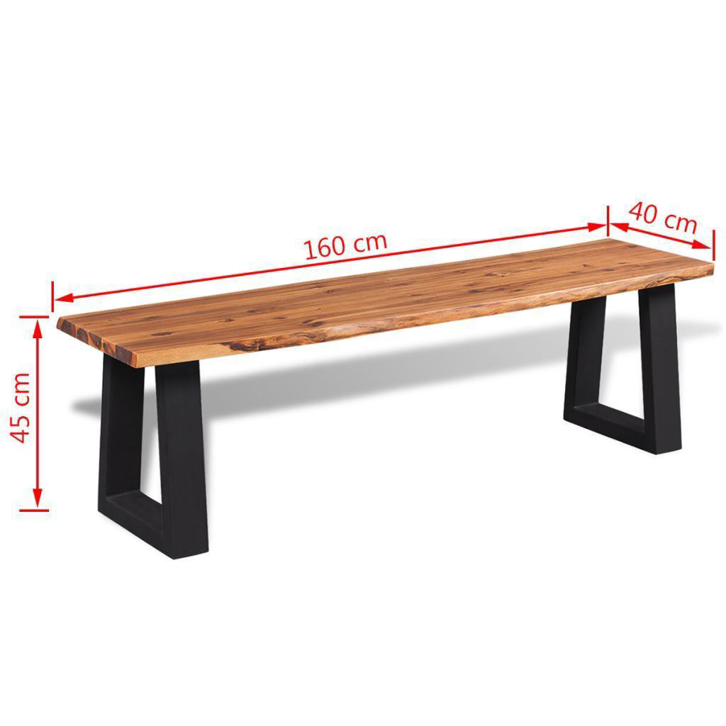 """Picture of Living Room Bench Solid Acacia Wood - 63"""""""