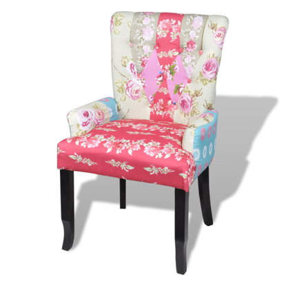 Picture of Living Room Chair Accent High Back Armchair - Patchwork