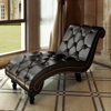 Picture of Living Room Chaise Lounge Button Tufted Artificial Leather - Brown