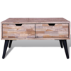 "Picture of Living Room Coffee Table with Drawers - 28"" Reclaimed Teak"