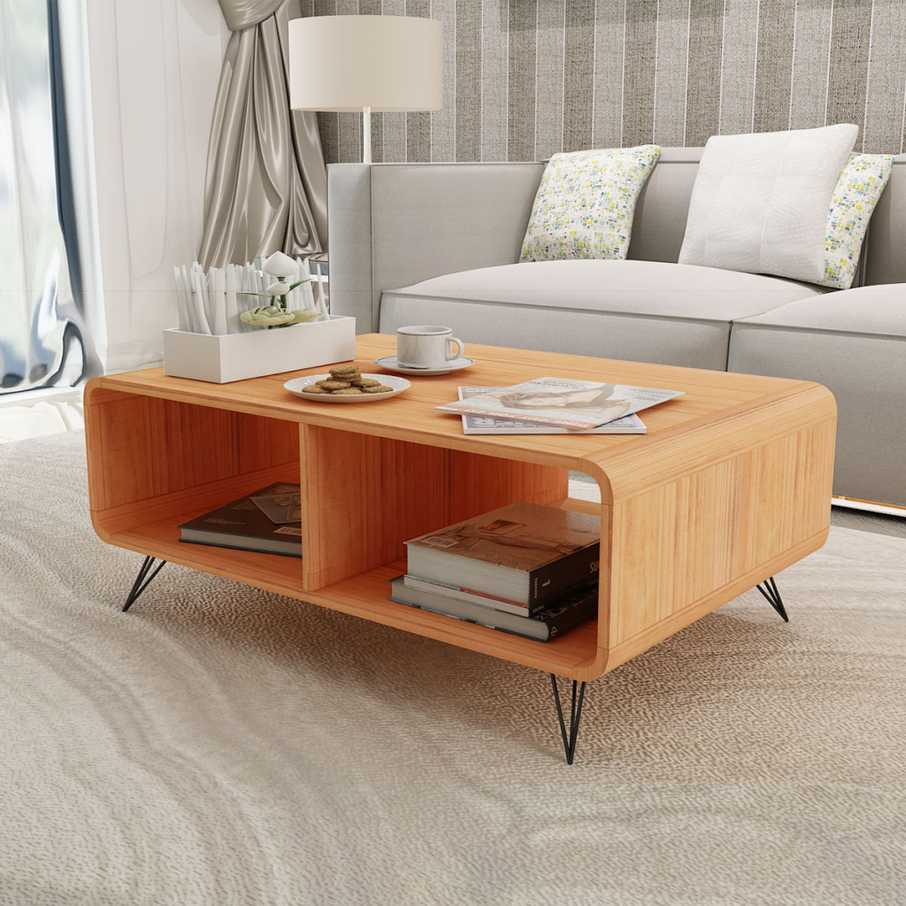 Picture of Living Room Coffee Table Wood - Brown