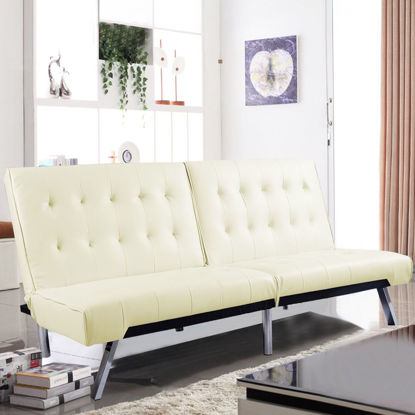 Picture of Living Room Futon Sofa Bed Splitback Sleeper Couch Lounger