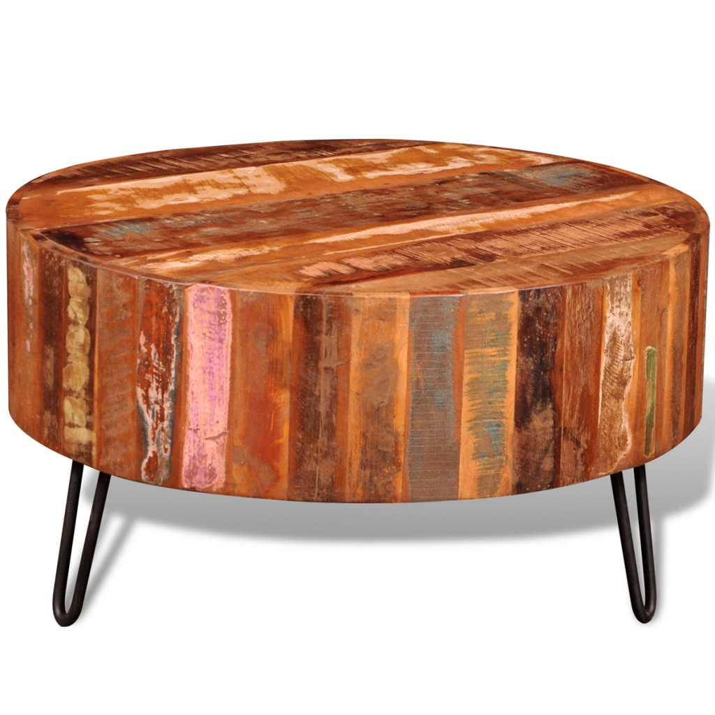 Picture of Living Room Round Coffee Table - Reclaimed Solid Wood