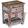 Picture of Living Room Side Table with 1 Drawer - Solid Reclaimed Wood
