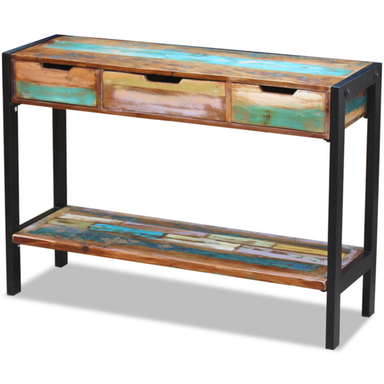 Picture of Living Room Sideboard 3 Drawers - Solid Reclaimed Wood