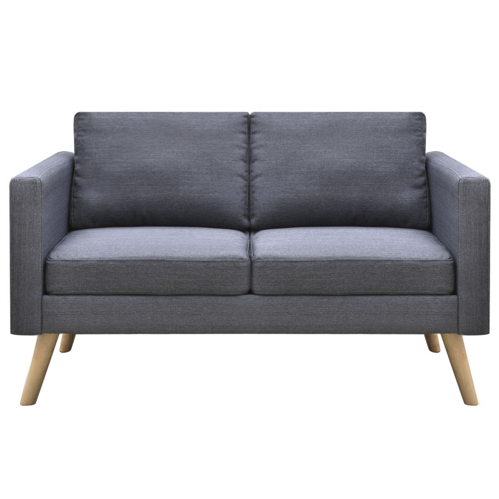 Picture of Living Room Sofa Couch 2-Seater Fabric - Dark Gray