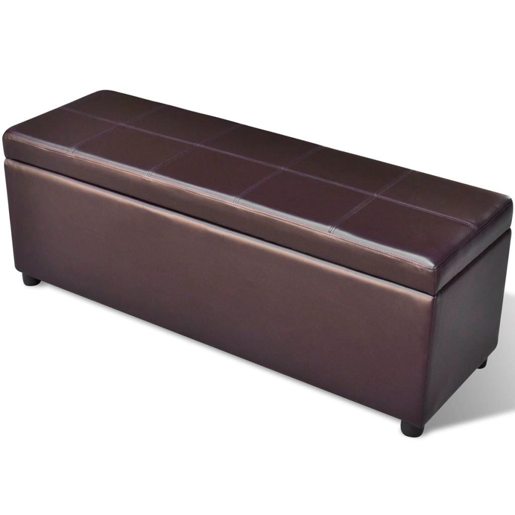 Picture of Living Room Storage Bench - Brown